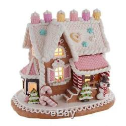 Kurt Adler Christmas Gingerbread Junction Gingerbread House Battery Cottage Chic