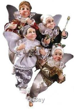 Kurt Adler Jacqueline Kent Retired 2008 Set of Four (4) Mini Godmother Fairies