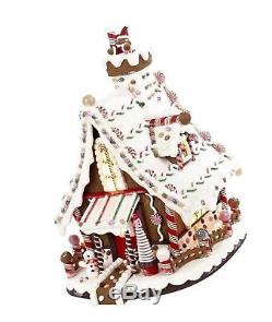 Kurt Adler Lighted Christmas Gingerbread house 12-Inch