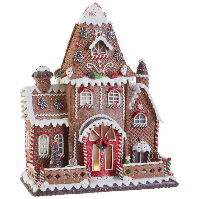 Large Lighted Gingerbread Mansion 16.5in Raz New Raz Christmas Rz19chtrp