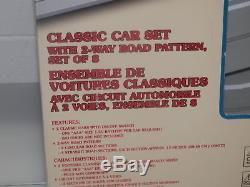 Lemax Classic Car set OPEN BOX EXCELLENT CONDITION