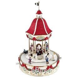 Lenox Holiday Gazebo Musical Centerpiece Sculpture Plays Jingle Bells