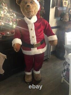 Life Size 5' GEMMY Animated Singing Santa Bear Christmas