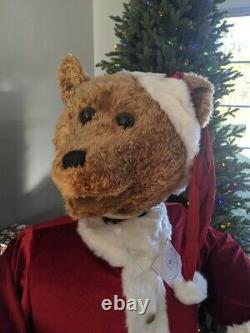 Life Size 5' GEMMY Animated Singing Santa Bear Christmas 100% Complete EXCELLENT