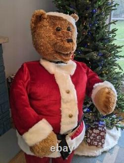 Life Size 5' GEMMY Animated Singing Santa Bear Christmas 100% Complete Very Nice
