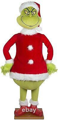Life Size Animated Talking Christmas Grinch Gemmy New Sealed
