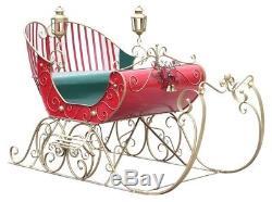 Life-Size Christmas Victorian Santa Sleigh Iron Commercial Christmas Decoration