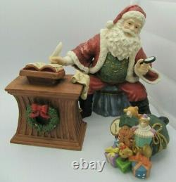 Living Home Christmas 8 pc. Santa Scene Fine Porcelain