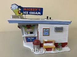 Lot Of 3 Dept 56 DISNEY Mickey's Merry Christmas Village Ice Cream Shop + 2 More