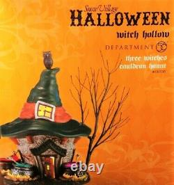MINT Dept 56, Three Witches Cauldron Haunt #4030758, Witch Hollow Halloween