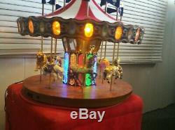 MR. CHRISTMAS 17 wide ANIMATED FLAGS CAROUSEL 75th Anniversary Rare
