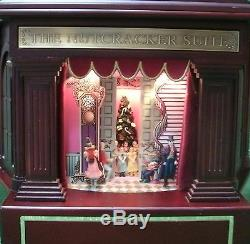 MR CHRISTMAS Gold Label NUTCRACKER SUITE BALLET Animated Wood Music Box 79403