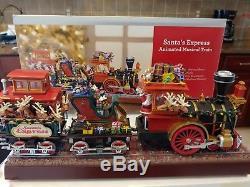 MR CHRISTMAS Holiday Animated Musical Santas Express Train NEW IN BOX