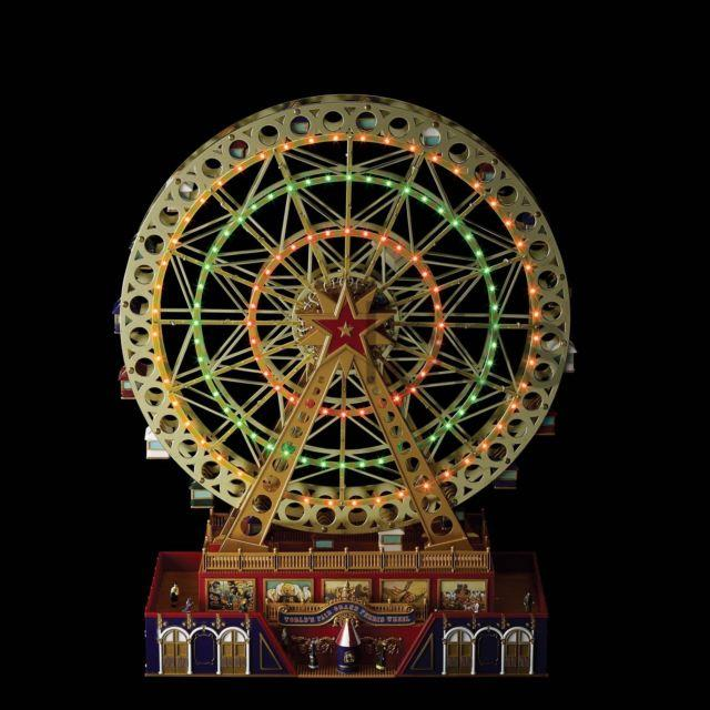 Mr Christmas Largest Animated Worlds Fair Grand Ferris Wheel Gold Label 50 Songs