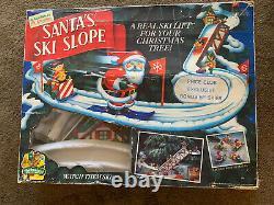 MR. CHRISTMAS SANTA'S SKI SLOPE 1992 WORKING in original box