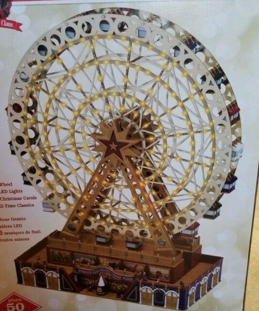 Mr. Christmas Worlds Fair Grand Ferris Wheel New In Box Musical 50 Songs