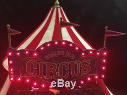 MR. CHRISTMAS World's Fair Big Top -Gold Label With Box MUSIC MOVING