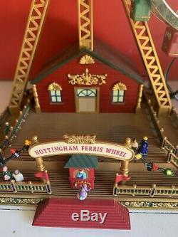 MR CHRISTMAS World's Fair Style DOUBLE FERRIS WHEEL 30 Tune Action/Lites Musical