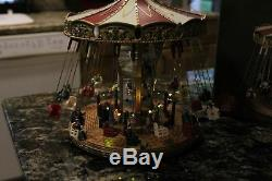 MR CHRISTMAS World's Fair Style Flying Swings Action/Lights 30 Tune Music Box