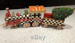 MacKenzie-Childs Courtly Check Train Christmas Aurora NY VERY RARE & HTF