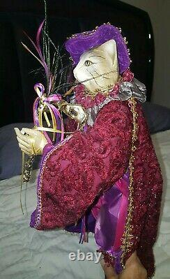 Mark Roberts Large Collectibles RETIRED LE Mr & Mrs Christmas Cats Tree Topper