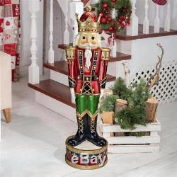 Medium 3' LED Lighted Festive Soldier Nutcracker Soldier Christmas Royal Decor