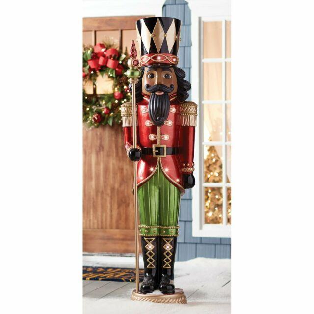 Members Mark Prelit 6ft Grand Christmas Nutcracker Multicultural W 15 Led Lights