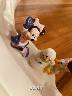 Mickey's Ski Slope Train Mr. Christmas Vintage 1993 Disney WORKS With Box