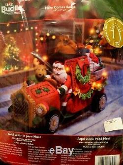 Mint 86058 Here Comes Santa Nip Home Decor 2007 Bucilla Felt Kit