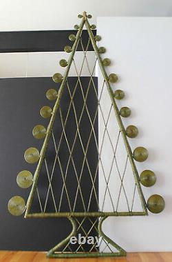 Mod vintage Rattan Christmas Tree Ornament ala Alexander Girard Designs 7ftx4ft