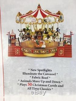 Mr. Christmas 2007 Country Fair Horse Carousel 30 Christmas Carols & Songs