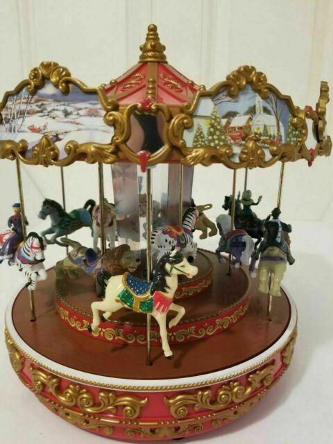 Mr Christmas 2009 Triple Decker Carousel With Box 50 Songs Holiday Xmas Animated