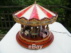 Mr Christmas 2012 Gold Label Diamond Jubilee Musical Lighted Carousel in Box EUC