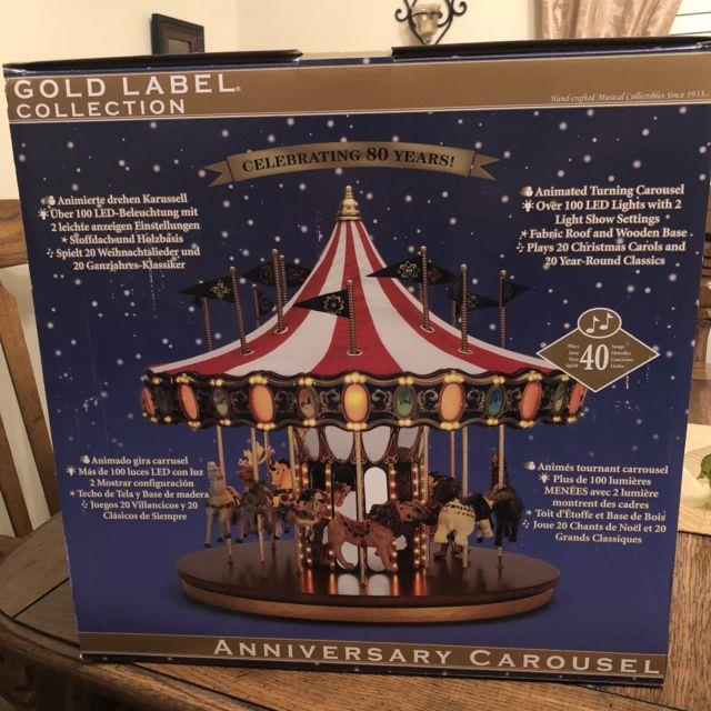 Mr Christmas 2013 Gold Label Anniversary Carousel Brand New Never Used