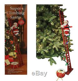 Mr Christmas 2016 Musical Animated 43 SUPER CLIMBING SANTA Ladder w Lights NIB