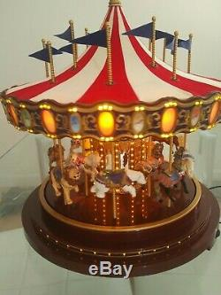 Mr. Christmas 75th Anniversary Gold Label Collection Carousel Rare 2010 Mint
