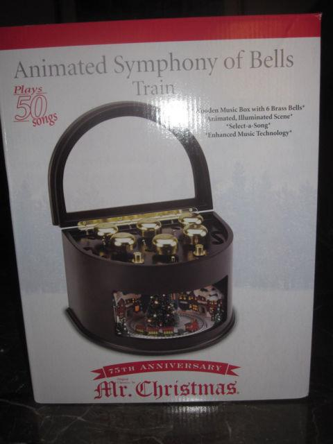 Mr. Christmas 75th Anniversary Grand Animated Symphony Of Bells 50song Music Box