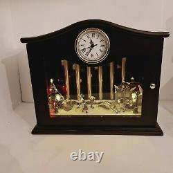 Mr. Christmas Animated Musical Chimes And Village Skaters Table Top Clock