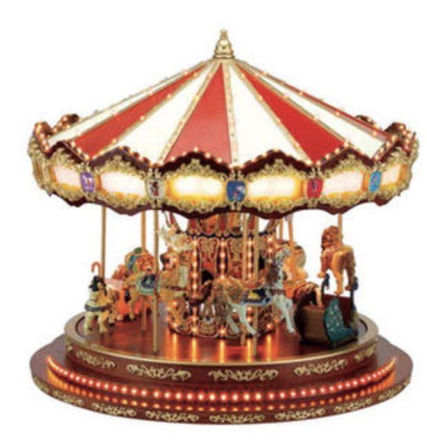 Mr. Christmas Animated Musical Grand Marquee Carousel Big 16