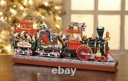 Mr. Christmas Animated Musical Santa`s Express Working Smokestack GOLD LABEL