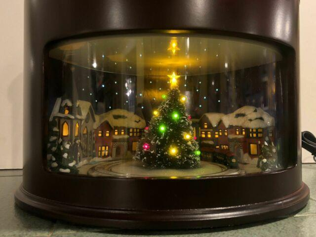 Mr. Christmas Animated Symphony Of Bells 75th Anniversary Train Wooden Music Box