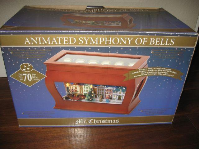 Mr Christmas Animated Symphony Of Bells Moving Train Music 70 Songs Euc Htf