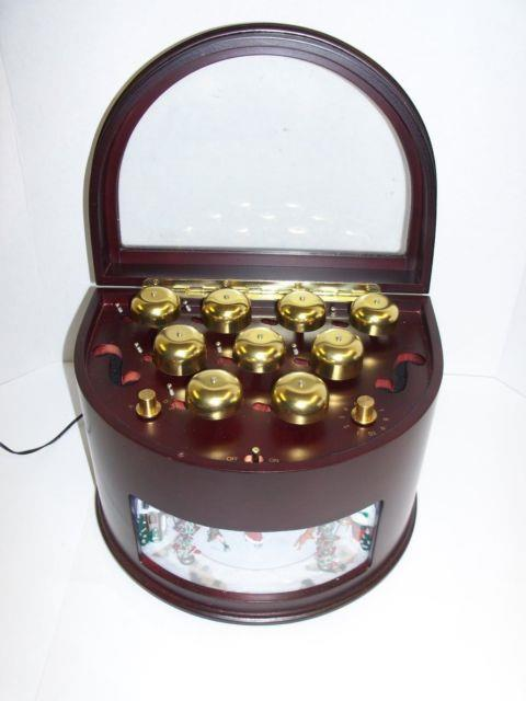 Mr Christmas Animated Symphony Of Bells Ice Skaters Music Box Plays 50 Songs