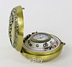 Mr Christmas Animated Train Pocket Watch Clock Musical Railroad Music Box 2005