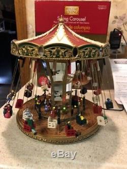 Mr. Christmas Carnival Fair Swing Carousel Action/Lights 30 Tune Music Box MIB