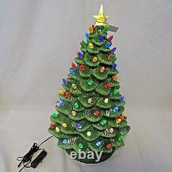 Mr Christmas Ceramic Lighted Tree with Base Lights 2018 LED Nostalgic 18 Box