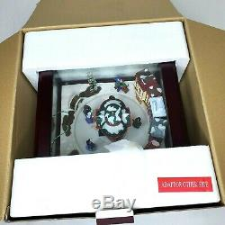 Mr. Christmas Curio Music Box with Moving Skaters Plays 50 Songs 2013 In Box