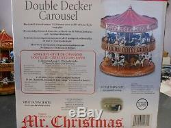 Mr Christmas Double Decker Carosel Working in original Box Excellent Condition