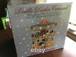 Mr Christmas Double Decker Carousel lighted, musical, animated. Was open to Test