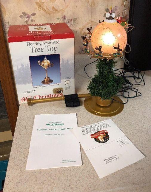 Mr. Christmas Floating Animated Tree Topper Santa Around The Globe 2001 Rare